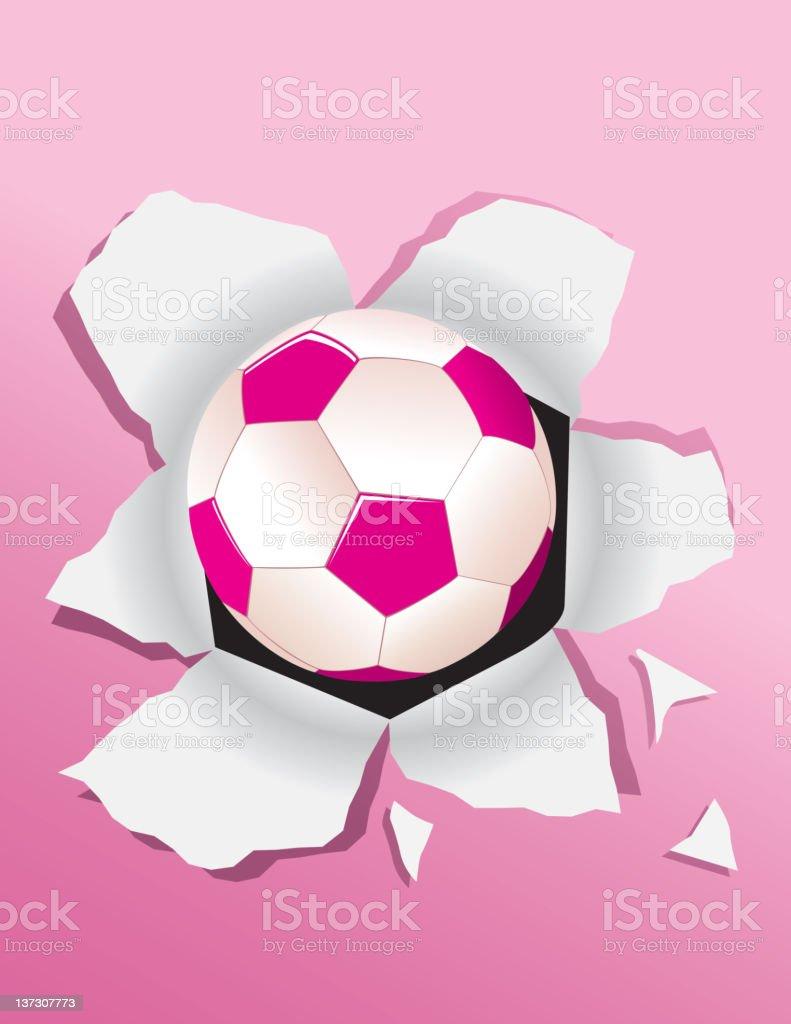 Explosão de bola de futebol - ilustração de arte em vetor