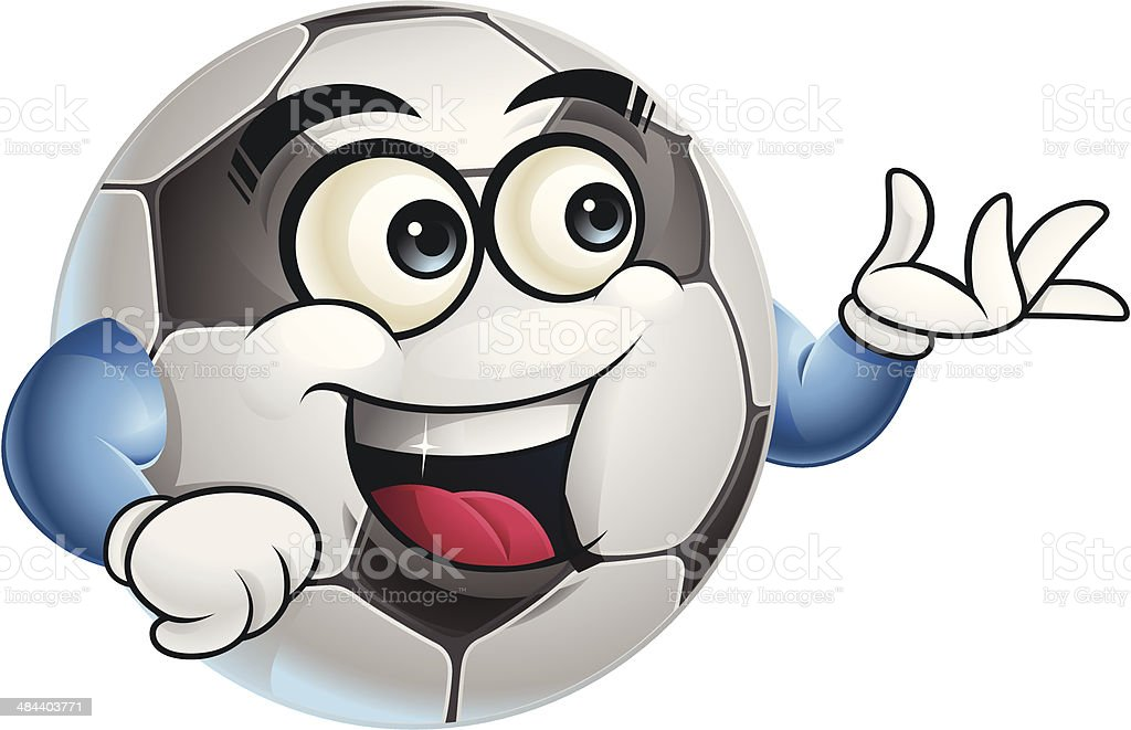 Soccer Ball Cartoon - Presenting royalty-free stock vector art