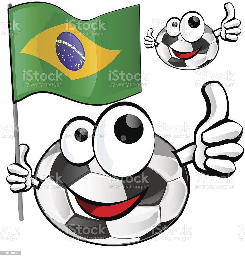 soccer ball cartoon royalty-free stock vector art
