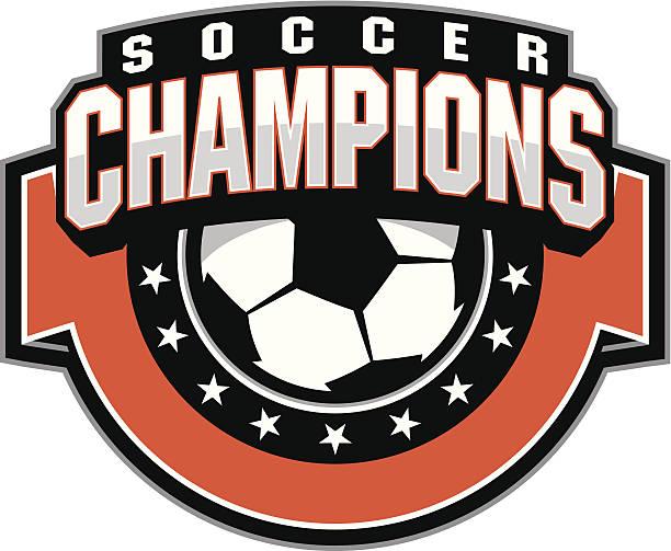 サッカーボールのチャンピオンデザイン - 高校スポーツ点のイラスト素材/クリップアート素材/マンガ素材/アイコン素材