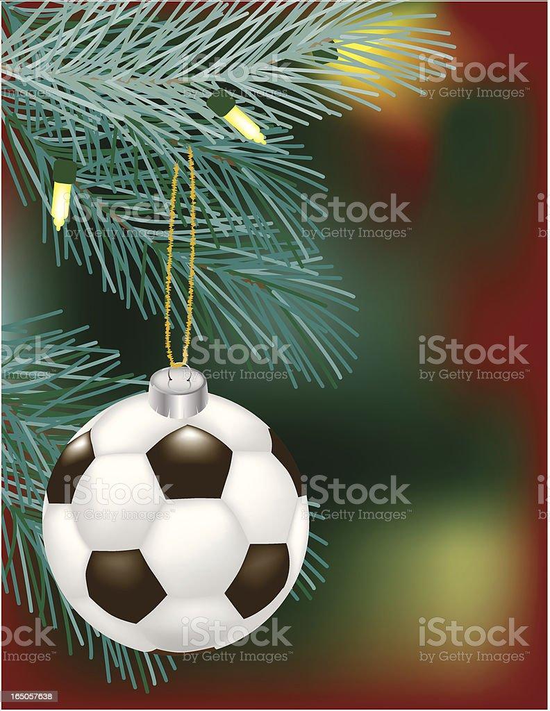Soccer Ball Christmas Ornament royalty-free stock vector art
