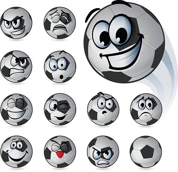 ilustrações, clipart, desenhos animados e ícones de emoticons de bola de futebol - emoji de lágrimas de alegria