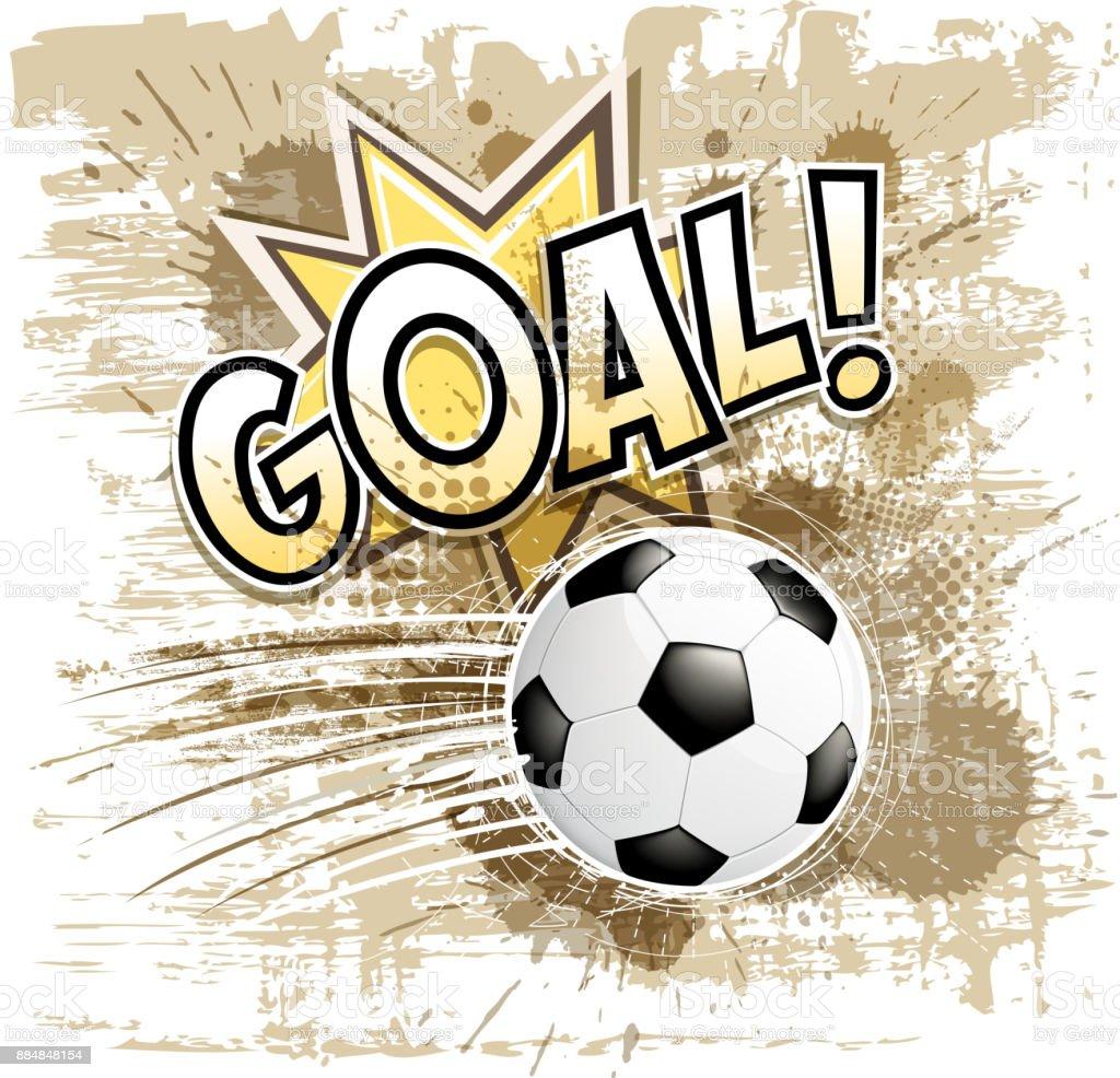 soccer ball goal sign vector art illustration