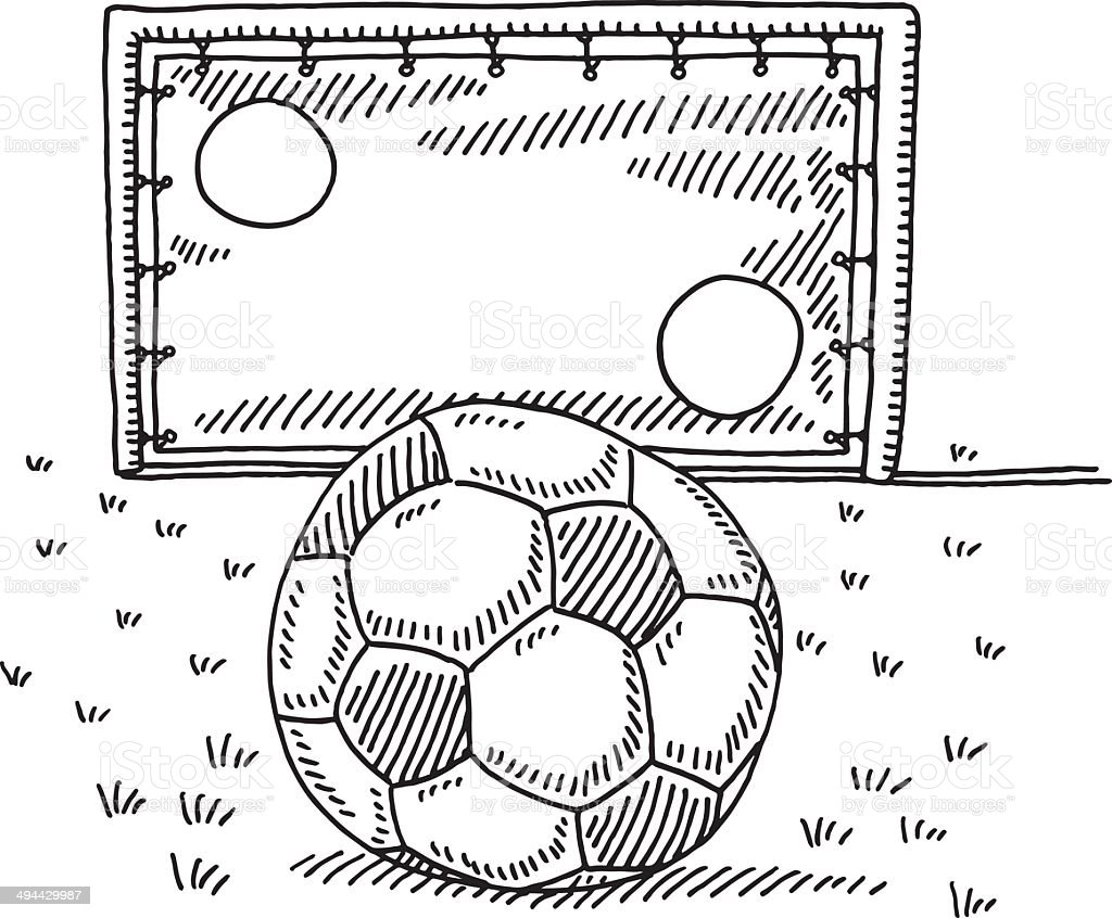 Soccer ball goal wall challenge drawing stock vector art more soccer ball goal wall challenge drawing royalty free soccer ball goal wall challenge drawing stock ccuart Images