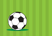 Soccer Ball Green Vector Background Design