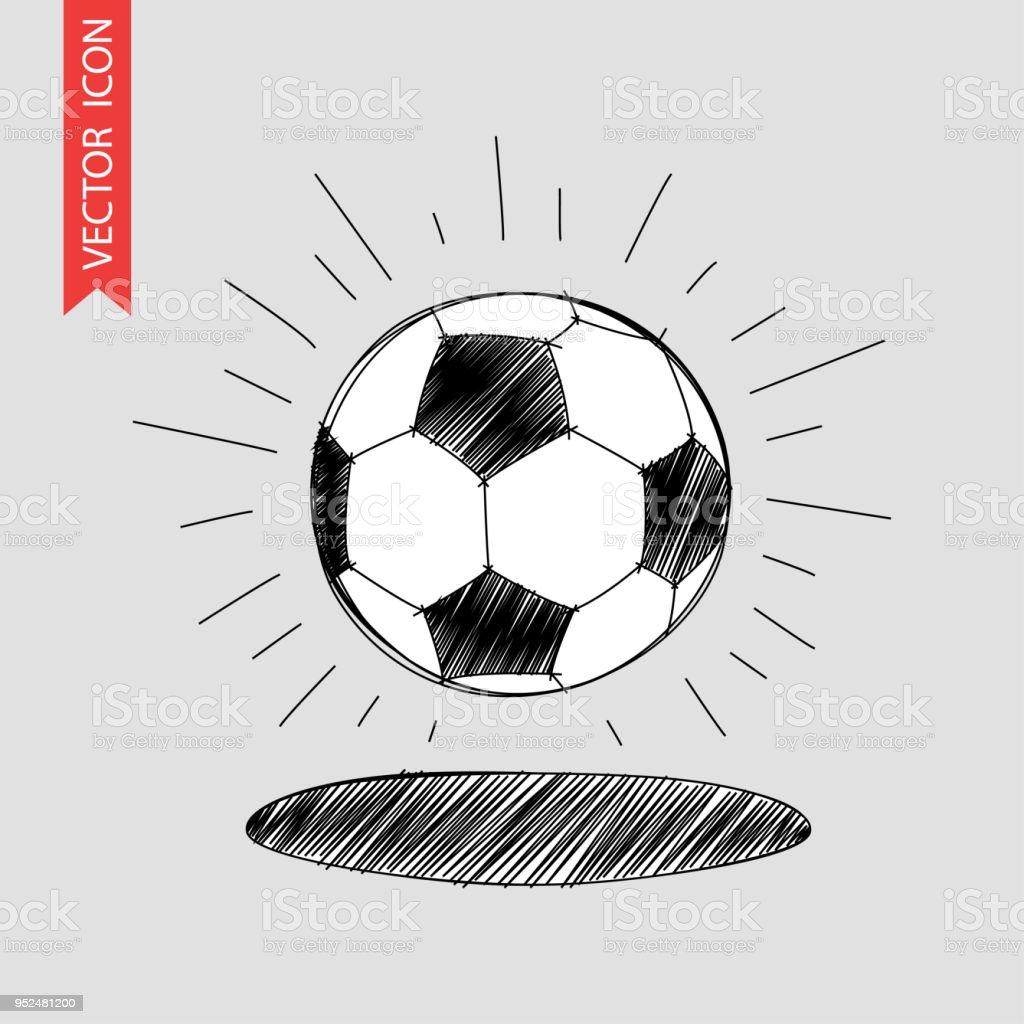 Fussball Hand Gezeichnete Symbol Stock Vektor Art Und Mehr Bilder Von Amerikanischer Football