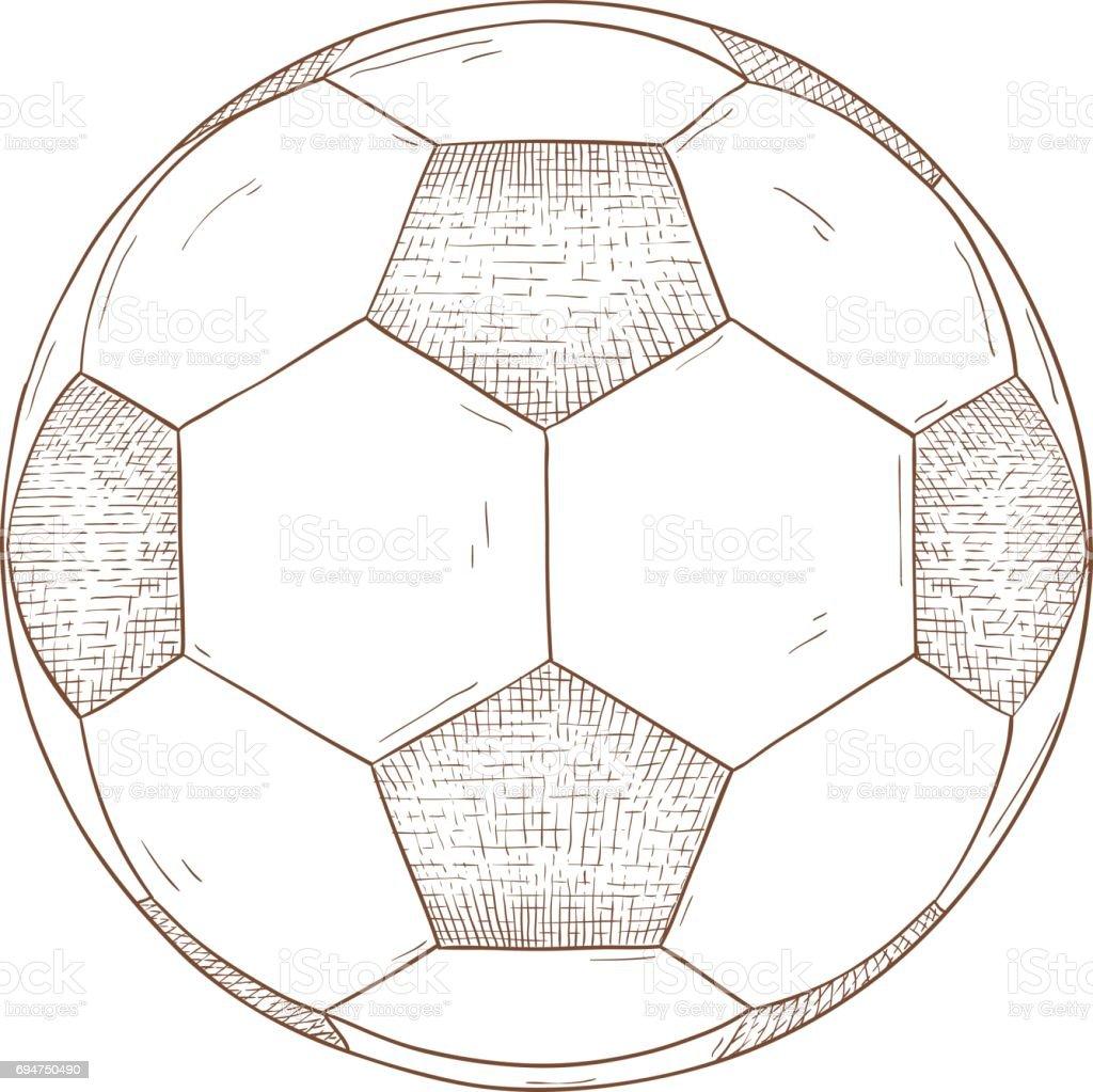 Fussball Hand Gezeichnete Skizze Stock Vektor Art Und Mehr