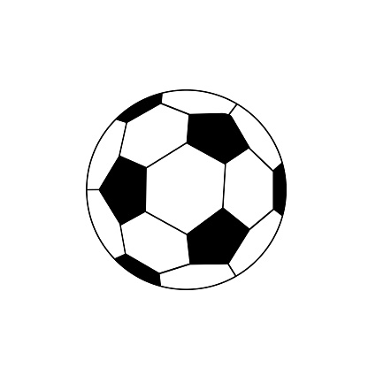 soccer ball icon on a white background, vector illustration