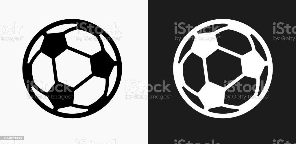 Soccer Ball icône sur fond de Vector noir et blanc - Illustration vectorielle