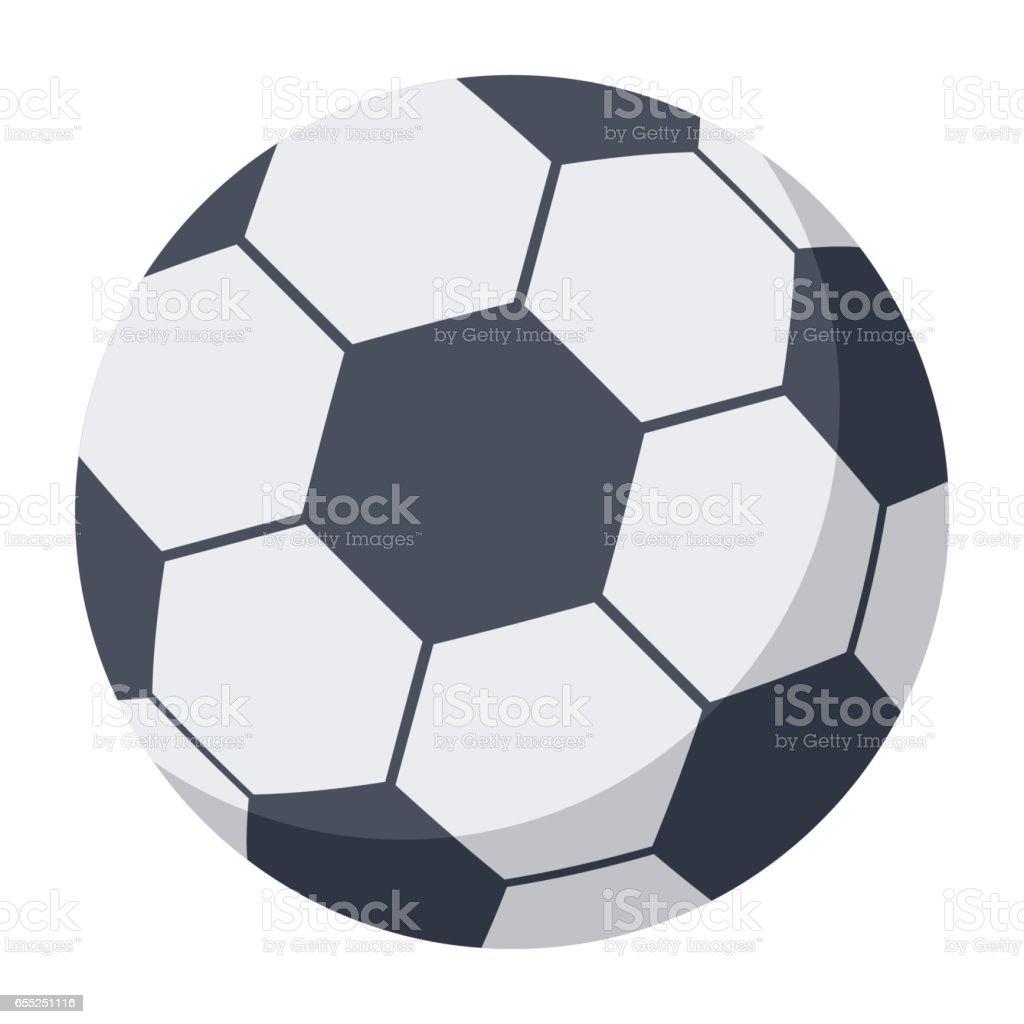 Pelota de fútbol medio ilustración de pelota de fútbol medio y más vectores libres de derechos de blanco - color libre de derechos
