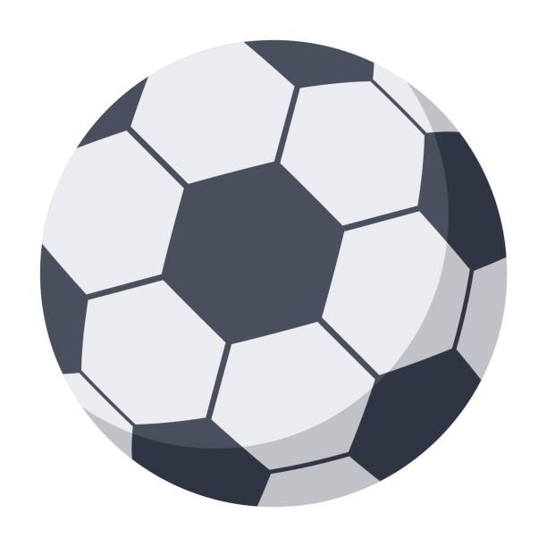 soccer ball illustration - football stock illustrations, clip art, cartoons, & icons