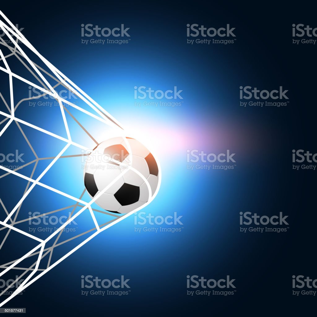 soccer ball in the goal net royalty-free soccer ball in the goal net stock vector art & more images of 2014