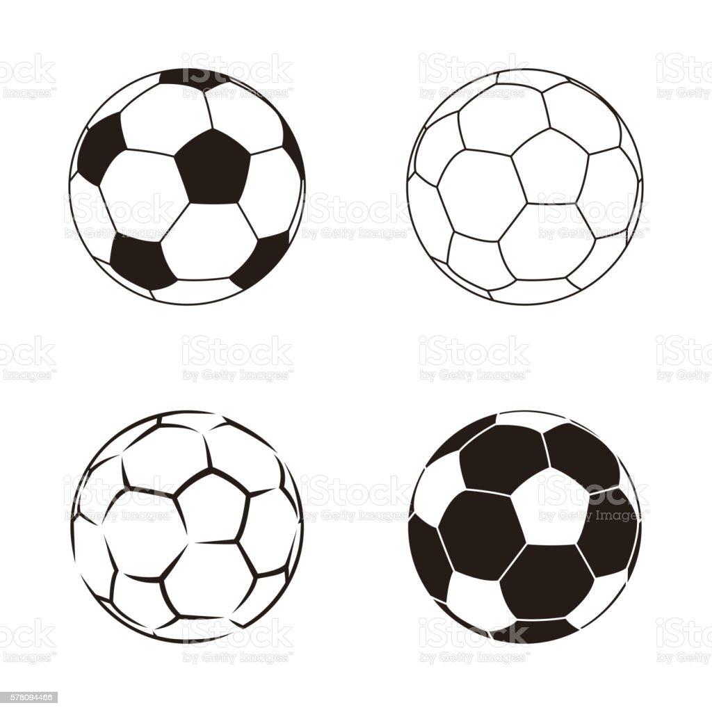 Soccer ball isolated on white illustration. Soccer ball football...