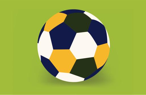 Soccer ball of Brazil 2014.
