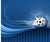 drawing and computer design of vector soccer ball on backround.