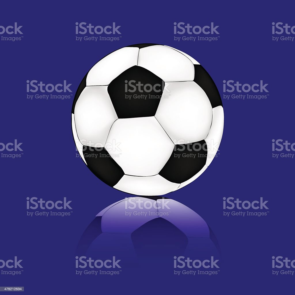 Pallone Da Calcio Su Sfondo Blu Immagini Vettoriali Stock E Altre