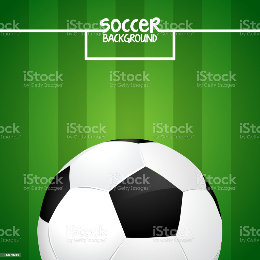 Soccer ball on green field with goal lines royalty-free soccer ball on green field with goal lines stock vector art & more images of activity