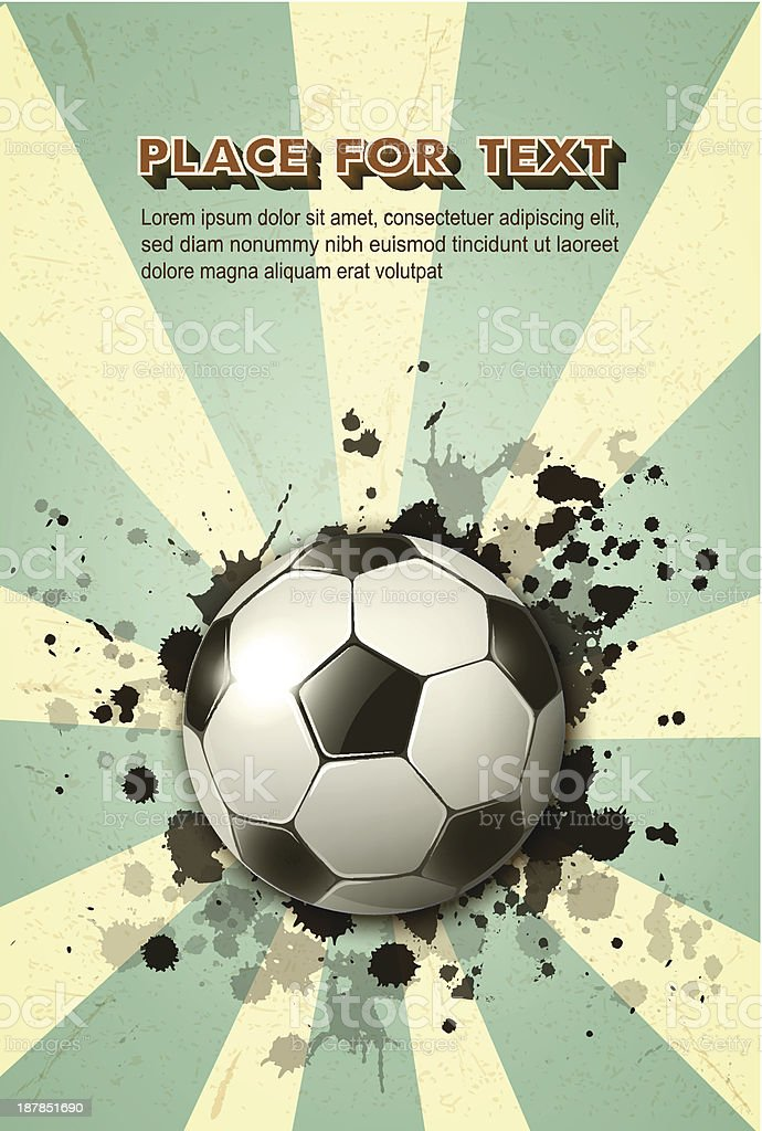 soccer ball on vintage background royalty-free stock vector art