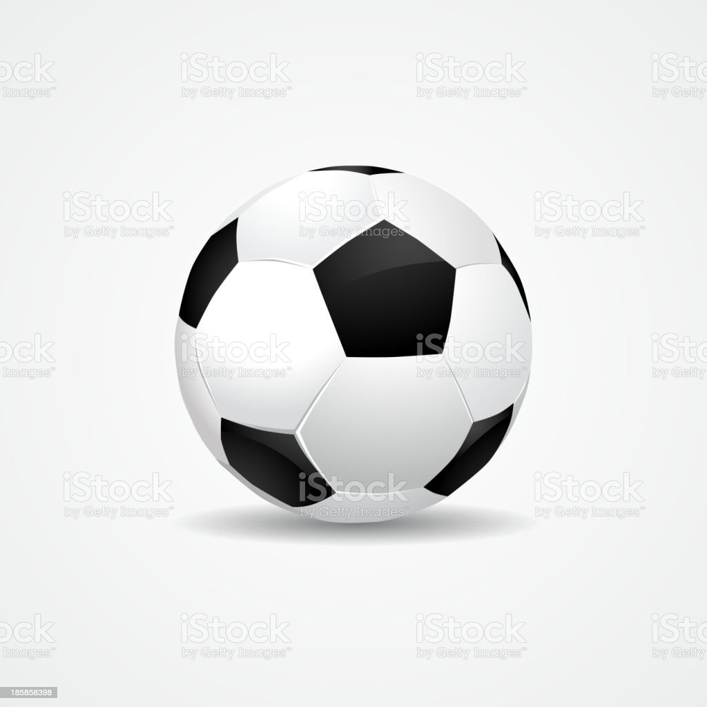 Soccer ball on white background - vector eps10 royalty-free soccer ball on white background vector eps10 stock vector art & more images of activity