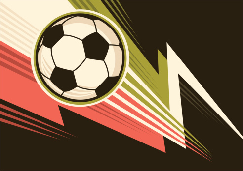 Soccer ball poster.