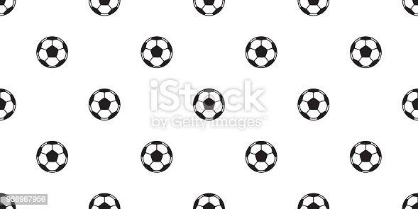 Vector Deportes Bolas Patrón De Fondo: Ilustración De Futbol Bola De Patrones Sin Fisuras