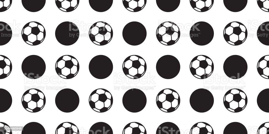 soccer ball seamless pattern vector football polka dot isolated sport...