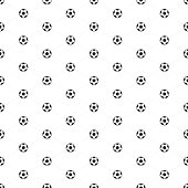 Soccer balls seamless pattern. Sports background. Endless texture can be used for wrapper, package cover, pattern fills or surface textures. Vector illustration EPS 10.