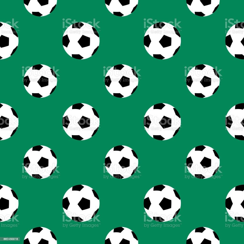 Soccer Ball Seamless Pattern vector art illustration