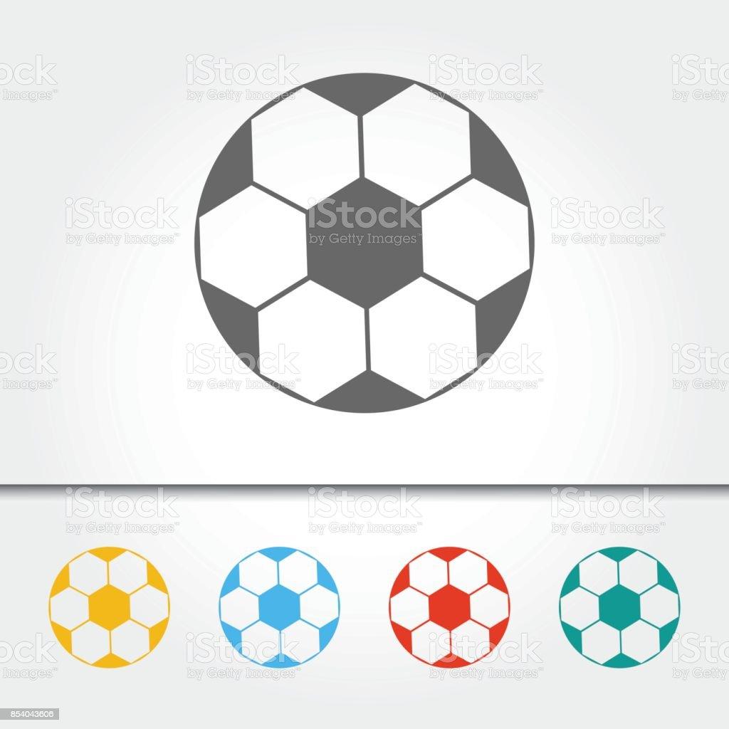 Soccer Ball Single Icon Vector Illustration
