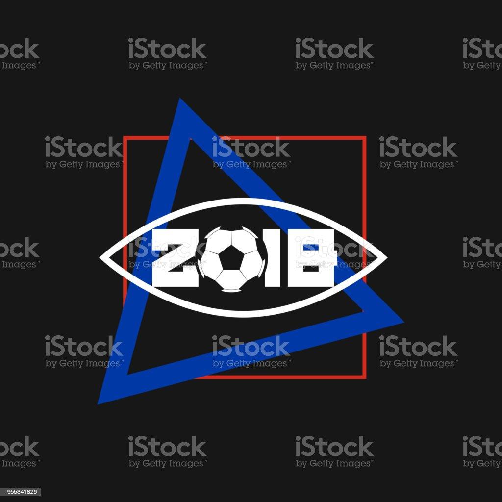 2018 Fußball Quadrat Und Dreieck Rahmen Moderne Kunstvektor Rahmen ...
