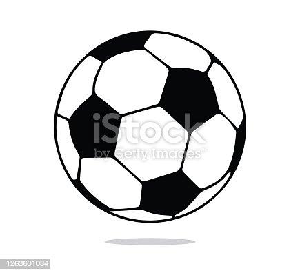 istock Soccer Ball Symbol, Football Ball Icon 1263601084