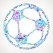 Soccer Ball  Vacation and Summer Fun Icons Background