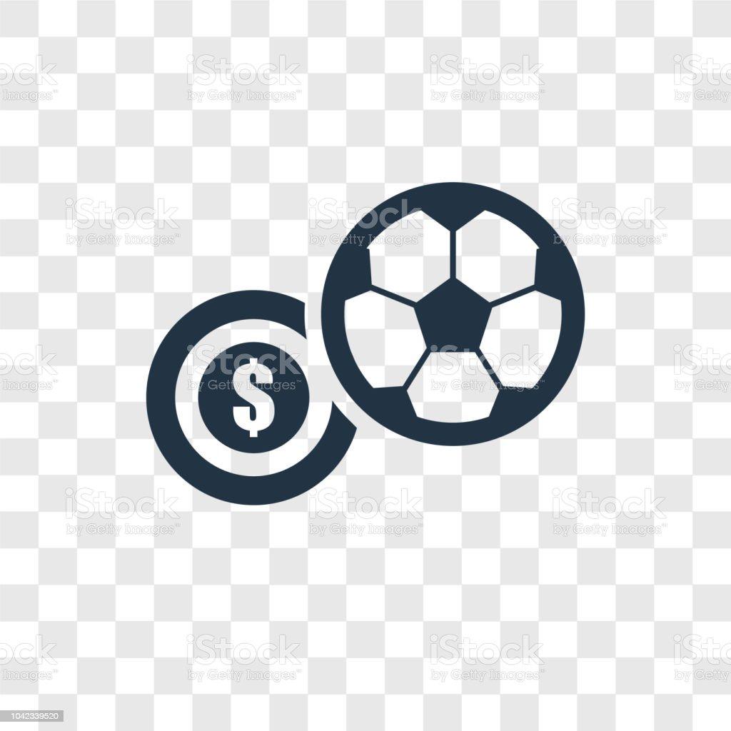 Soccer Ball Vektor Icon Isoliert Auf Transparenten