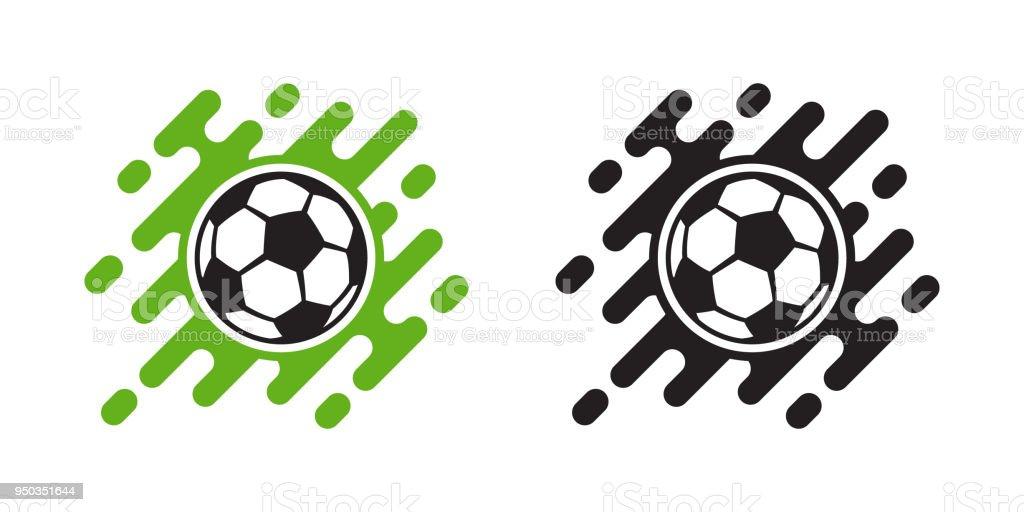 Soccer Ball Vektor Icon isoliert auf weiss. Fußball-Kugel-Symbol – Vektorgrafik