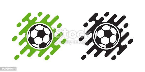 Soccer Ball Vector Icon Isolated On White Football Ball Icon Stock