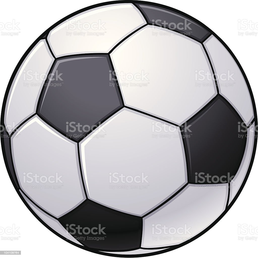 Soccer Ball vector art illustration