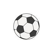 Soccer ball icon. Football sports concept. Vector illustration.