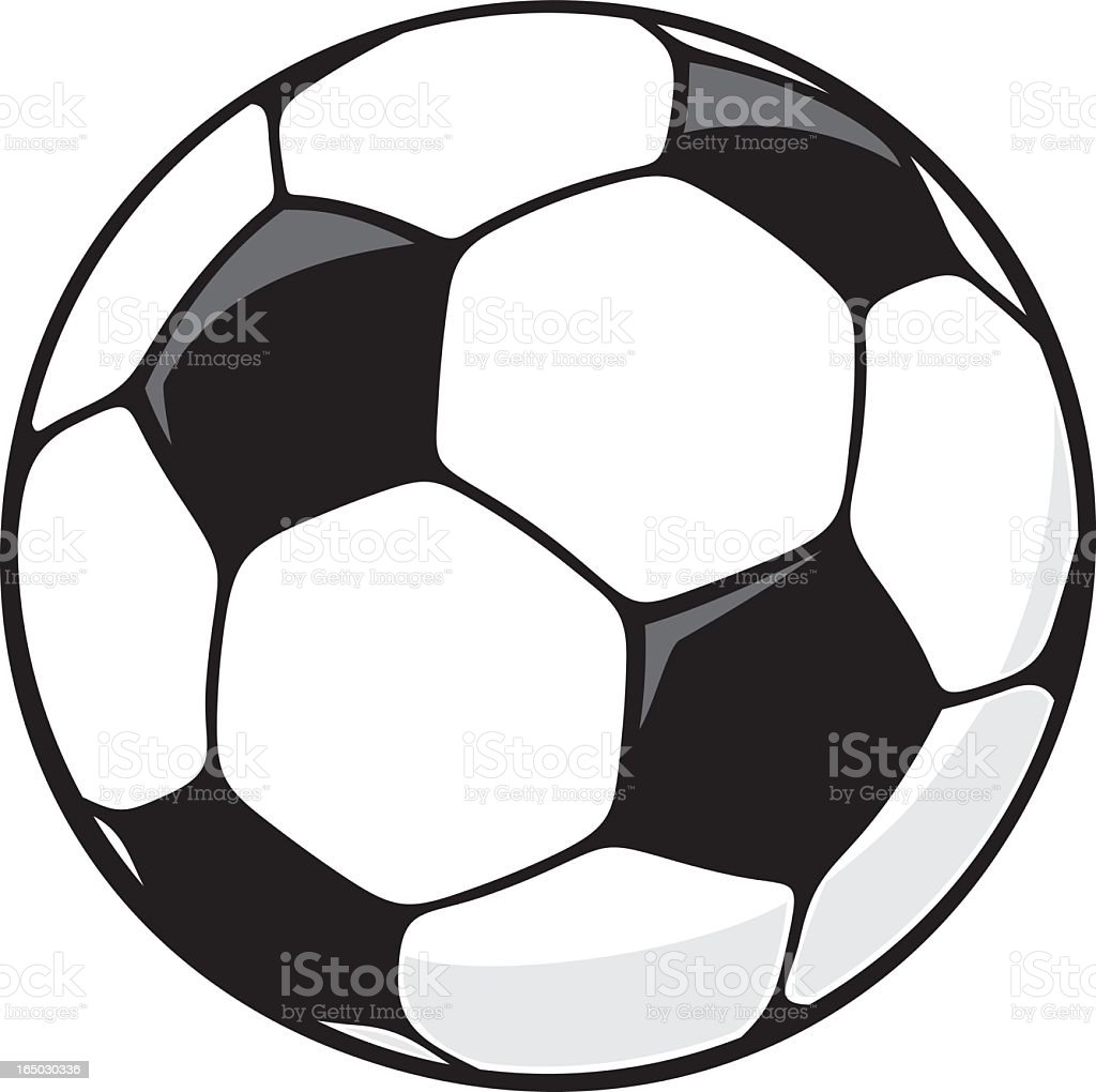 Soccer Ball royalty-free soccer ball stock vector art & more images of black and white
