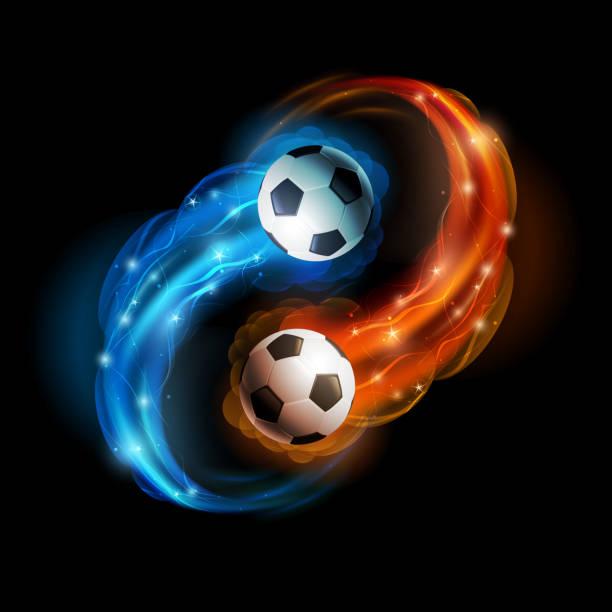 bildbanksillustrationer, clip art samt tecknat material och ikoner med soccer ball - fotboll eld
