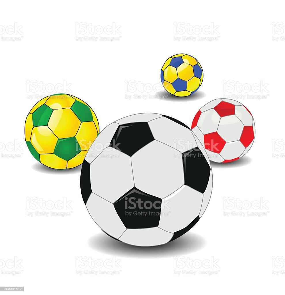 Ballon de football - Illustration vectorielle