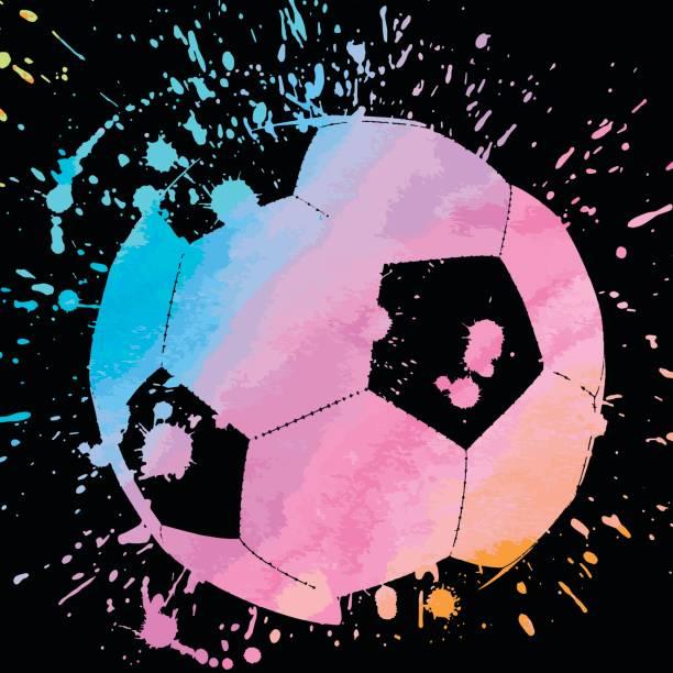 fußball ball - fußballkunst stock-grafiken, -clipart, -cartoons und -symbole