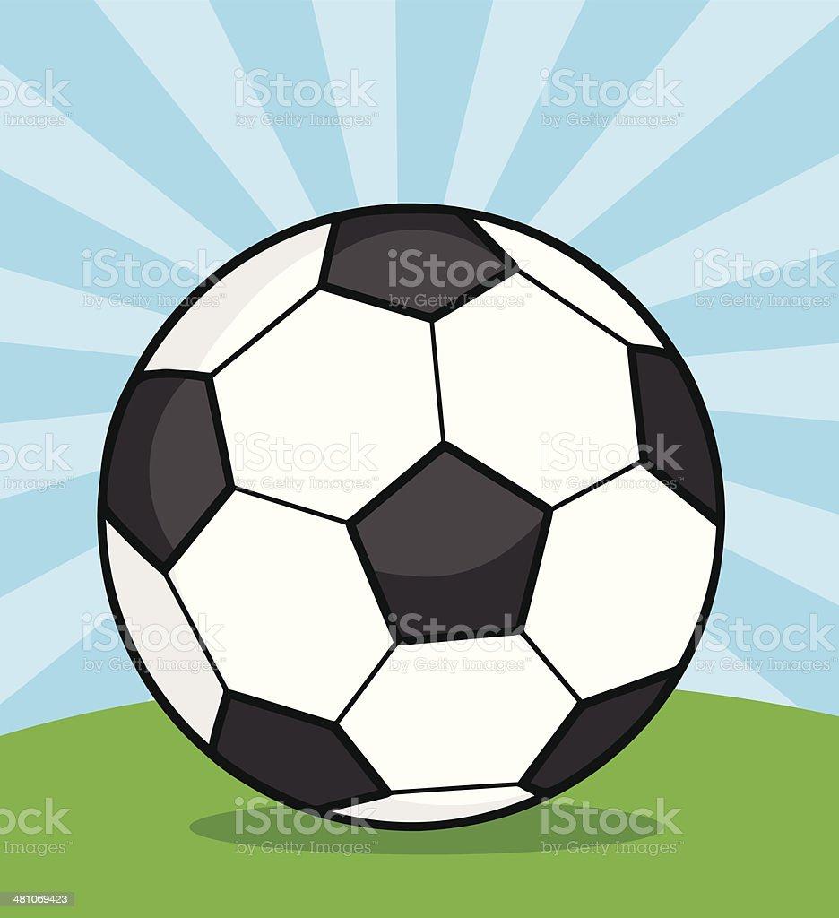 0c35f1a5b3436 Pelota de fútbol con fondo ilustración de pelota de fútbol con fondo y más  vectores libres