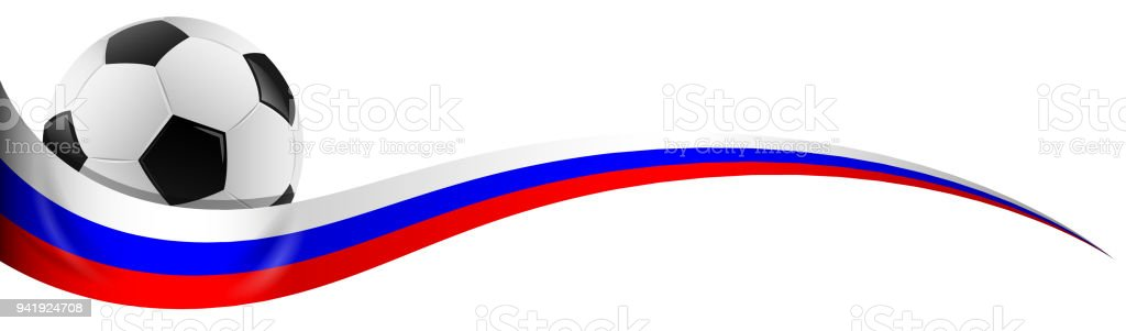 Fußball mit Russland Flagge Farben – Vektorgrafik