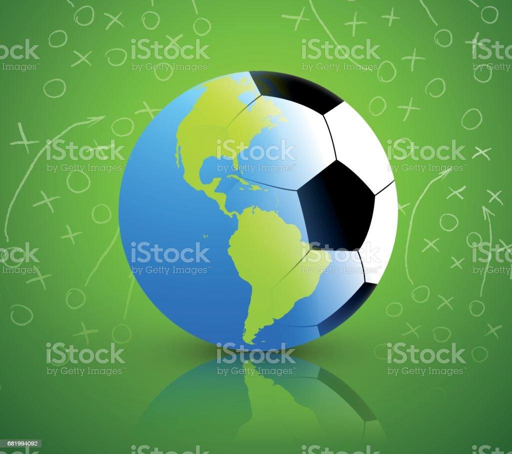 Balón de fútbol/tierra - ilustración de arte vectorial