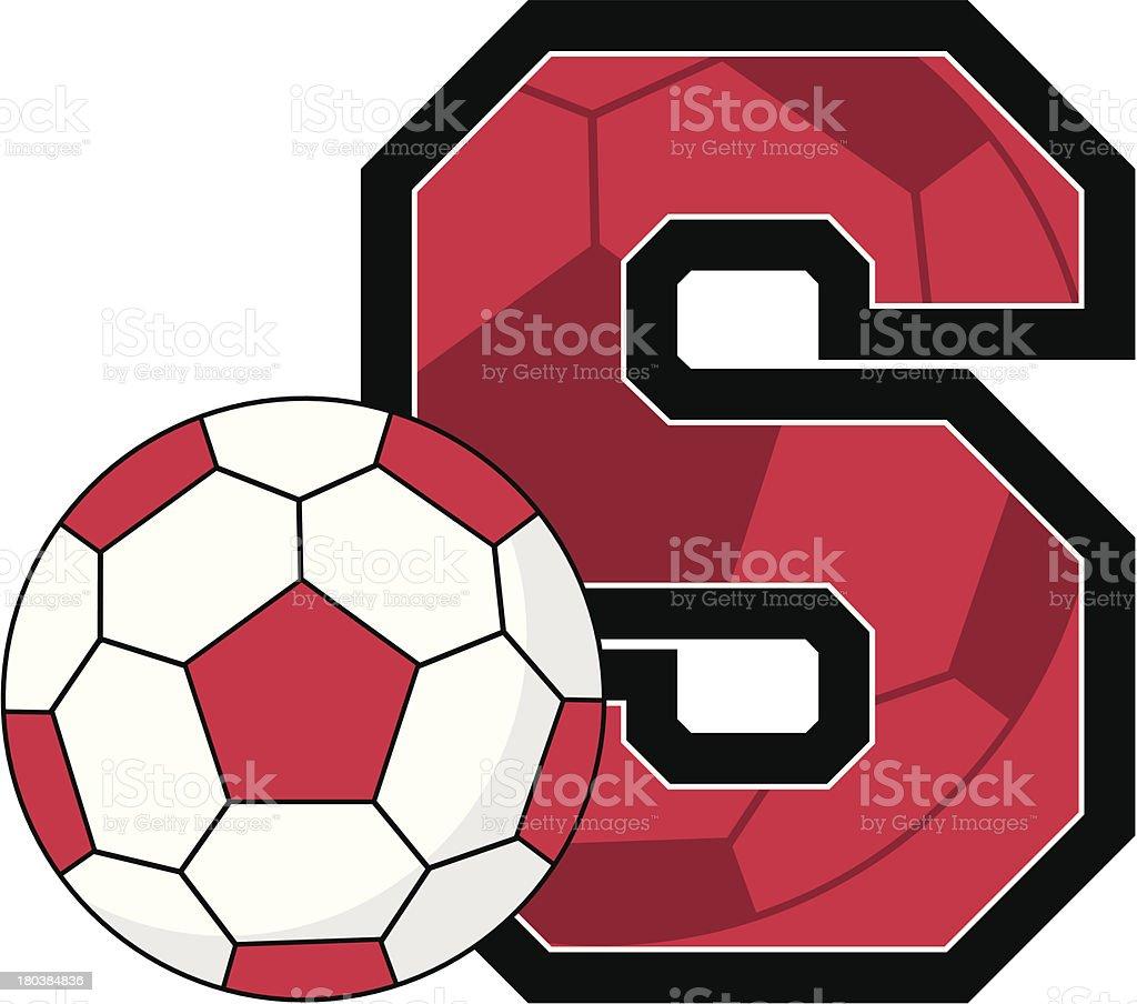 Soccer BallLearning Letter S royalty-free stock vector art