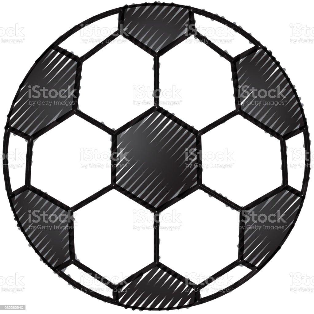 soccer balloon isolated icon soccer balloon isolated icon - arte vetorial de stock e mais imagens de acessório royalty-free
