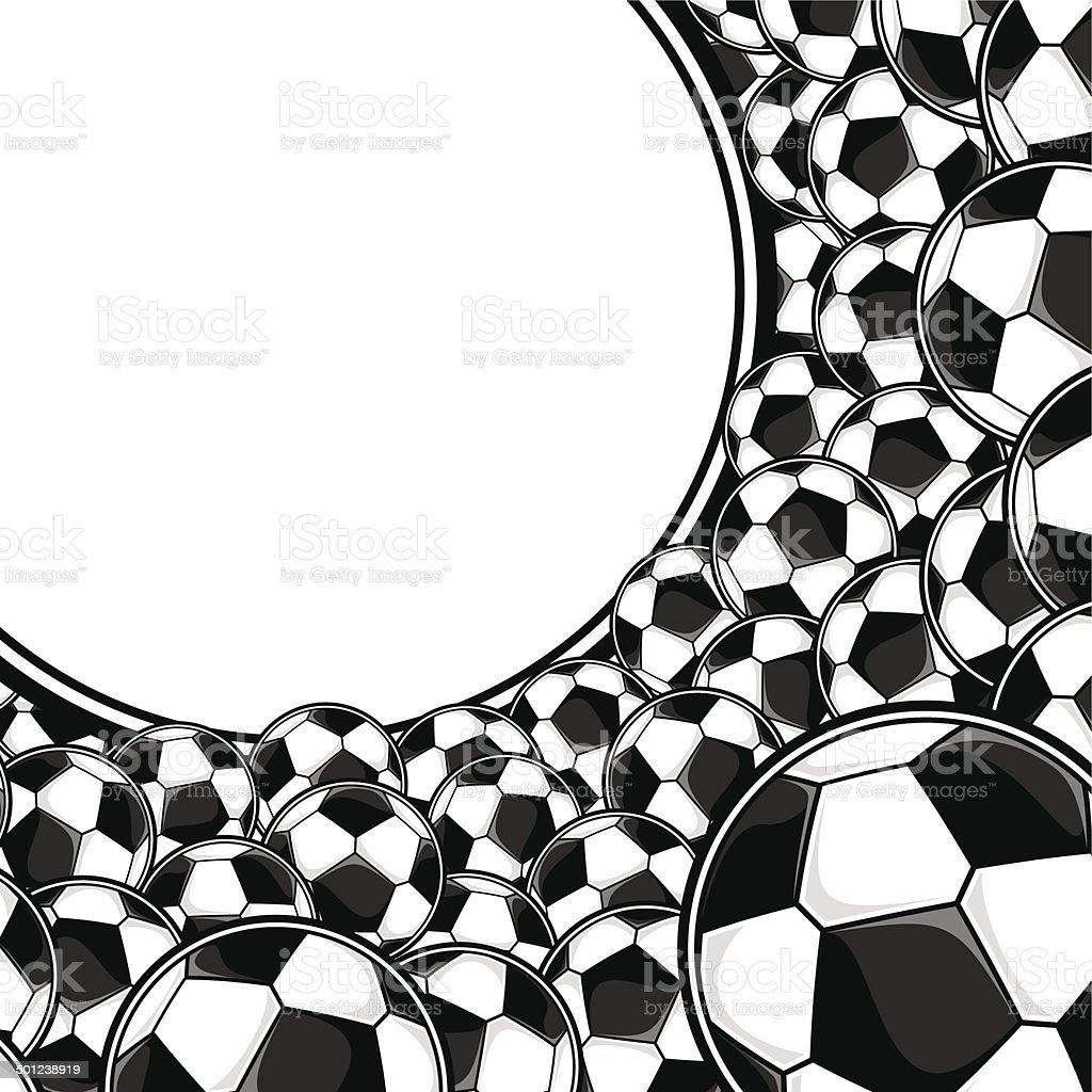 Soccer Balls Border Background Stock Illustration Download Image Now Istock