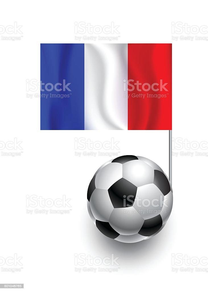 Футбольный мяч или Футбольные мячи с Вымпел флаг Франции Футбольный мяч или  Футбольные мячи с Вымпел 51d00d578b9