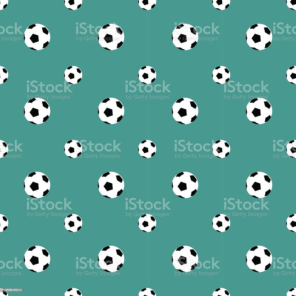 Seamless pattern with soccer balls vector background