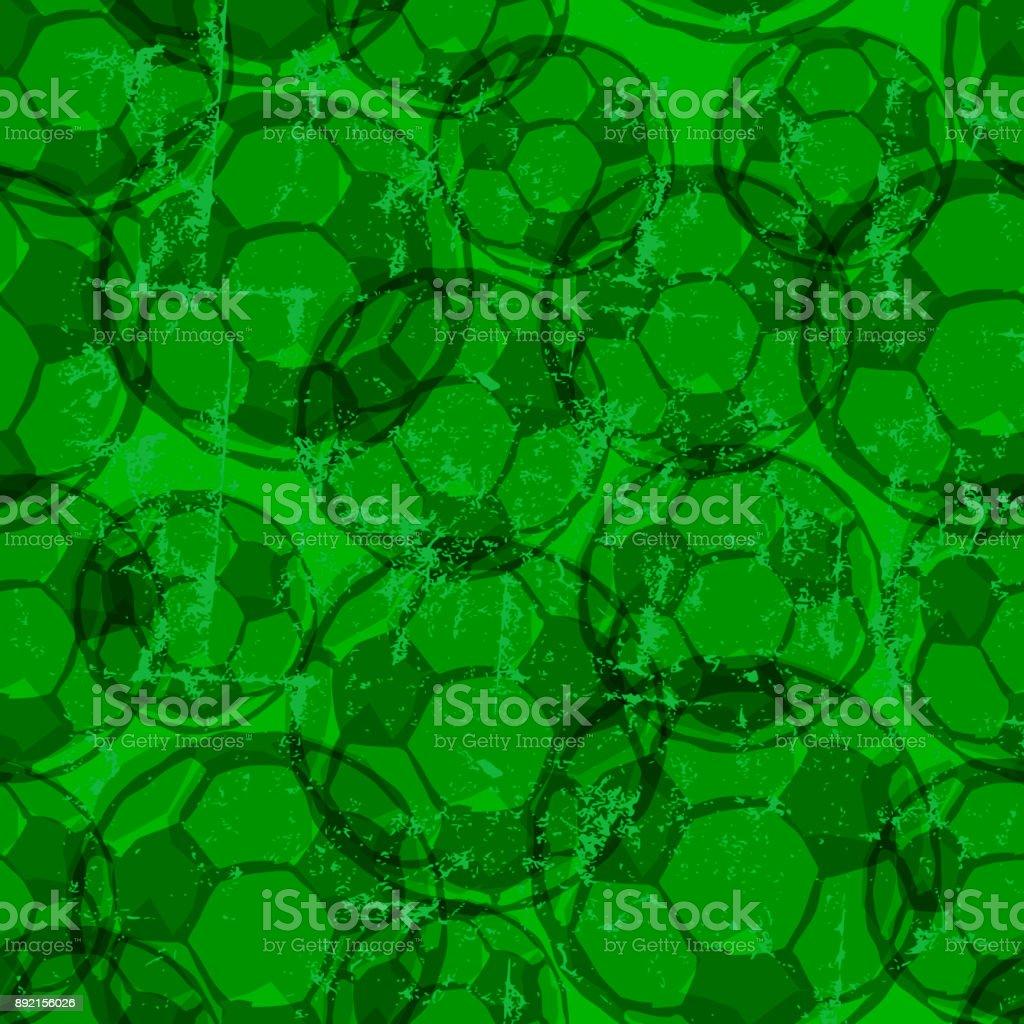 Fußball-Kugeln nahtlose Hintergrundmuster – Vektorgrafik